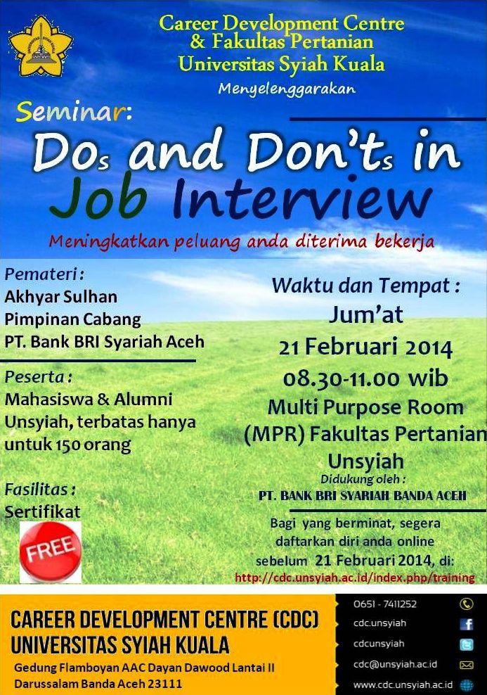 Seminar JobInterview