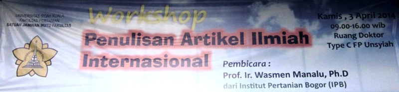 Workshop PenulisanArtikelIlmiah